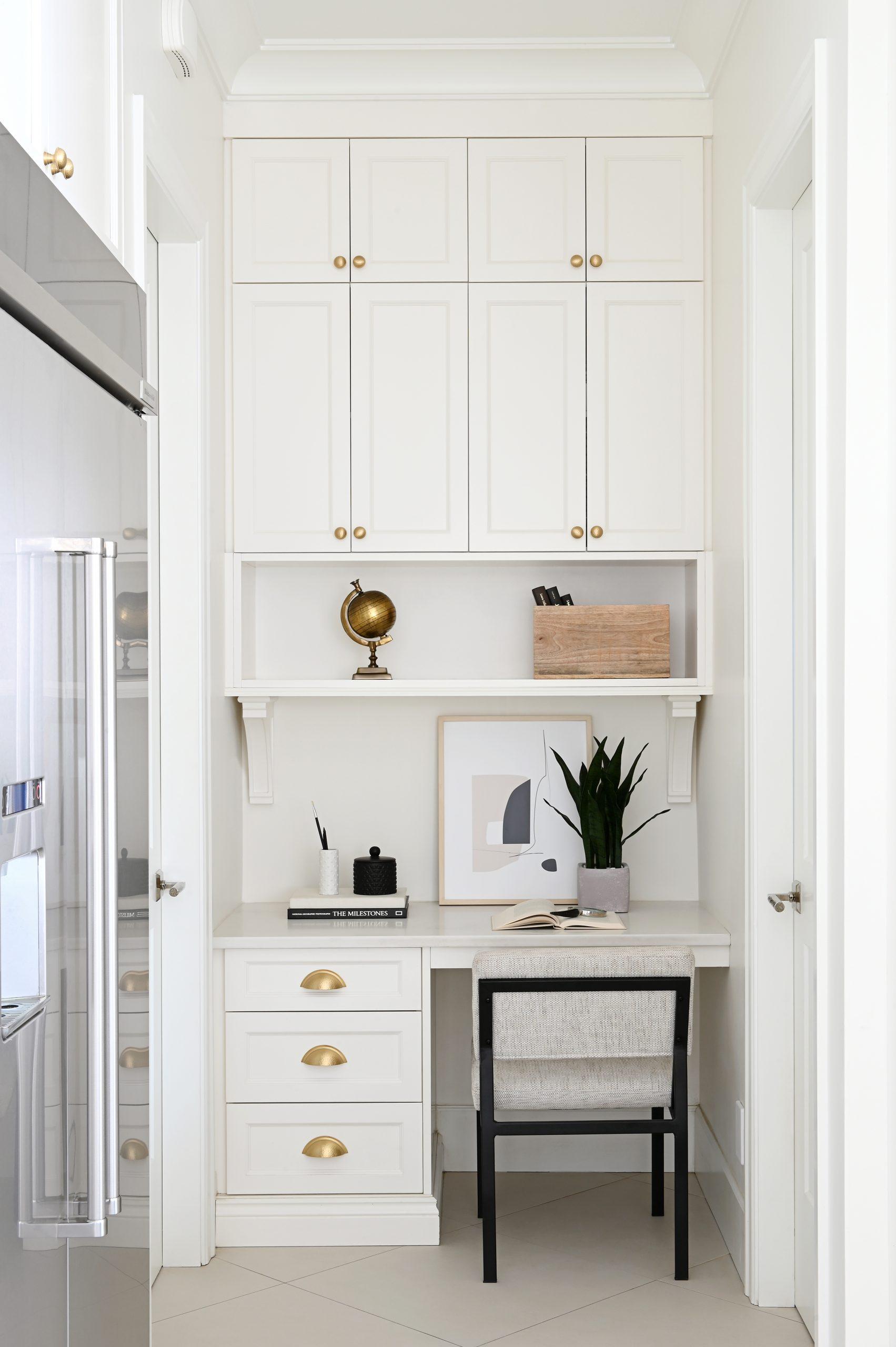 Maria De Cotis Interior Design Vancouver Bright Kitchen Custom Design Gold Hardware