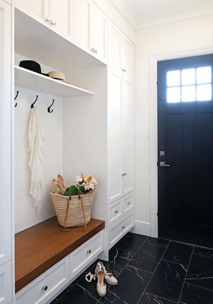 Maria De Cotis Interior Design Vancouver Bright Entryway Design Custom Storage